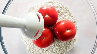 Mixer les tomates avec la farine pour 1 résultat étonnant ! Vous serez heureux !