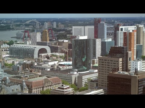 Stunning Rotterdam City views from the Delftse Poort building