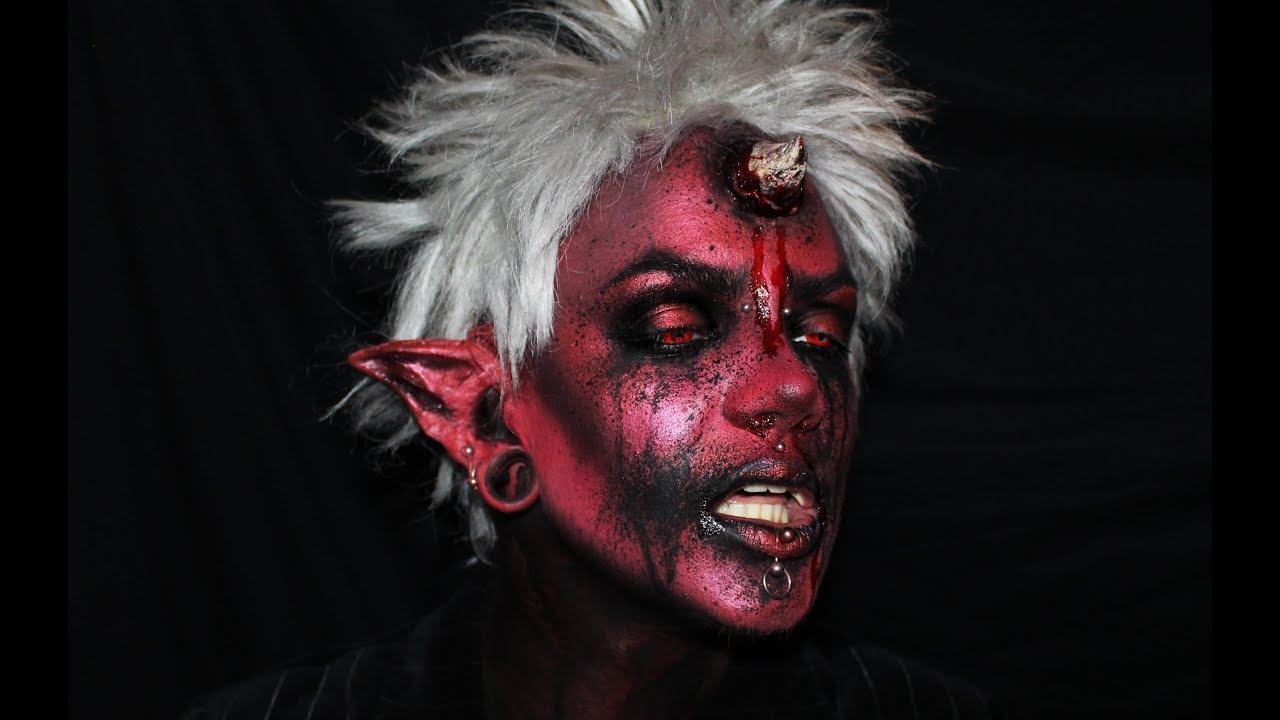 Devil/demon makeup tutorial l Halloween 2017 - YouTube  Demon Halloween Makeup