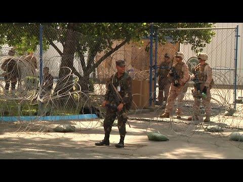 Marines Participate In Embassy Evacuation Training