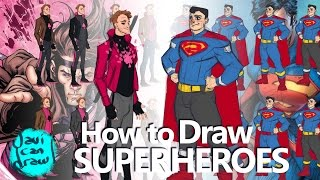 HOW TO DRAW SUPERHEROES - A Process Tutorial