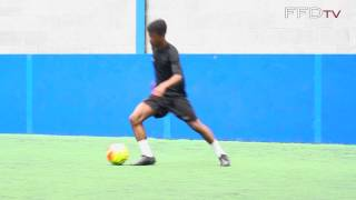 Manchester United FC 14 Year Old Highly Rated Attacking Midfielder Angel Gomes - Dribbling Session