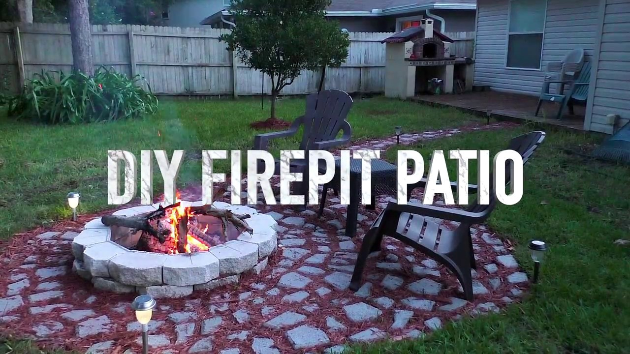 DIY Firepit Patio, Concrete Mold Stepping Stone, Garden Outdoor Living