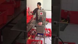 Feozen meat and bone cutter