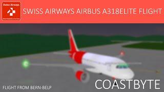 ROBLOX - Swiss Airways Airbus A318ELITE Flight