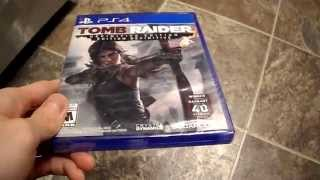 Unboxing Tomb Raider Definitive Edition Crystal Dynamics Square Enix Sony playstation 4 Ps4 PSN