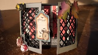 Halloween Cards How To Make A Gate Fold Window Lattice Card - Halloween 2014 Serie