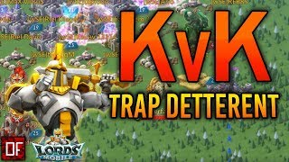 Quick KvK with the garrison trap! - Lords Mobile