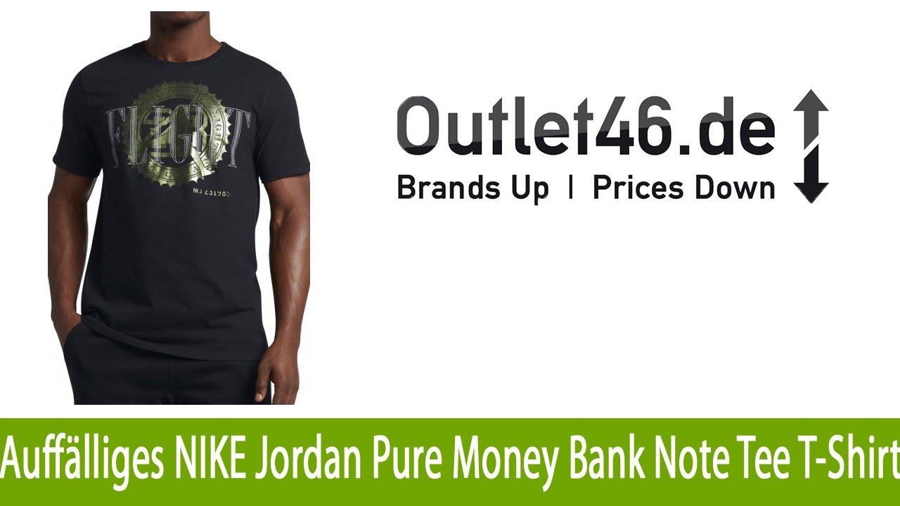 Auffälliges NIKE Jordan Pure Money Bank Note Tee Herren T Shirt Schwarz l