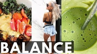 HOW TO EAT A BALANCED DIET AND STAY ON TRACK | Vlog hacks