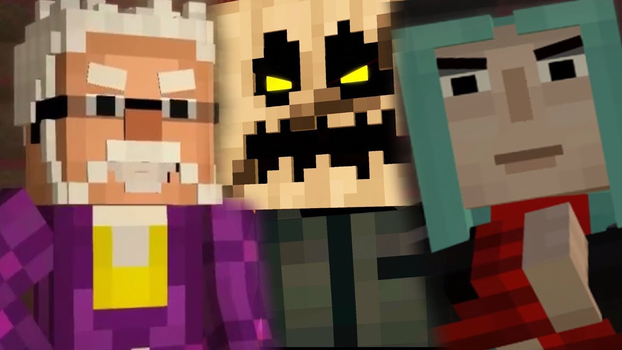 The White Pumpkin Hadrian and Mevia will RETURN !!! - Minecraft Story Mode  Season 3