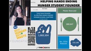 K-12 Food Rescue National Student Leader Sophie Harward