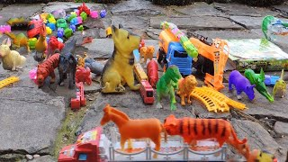 Subu Plays With Animal Toys, Vehicles Toys - Unboxing Toys for kids