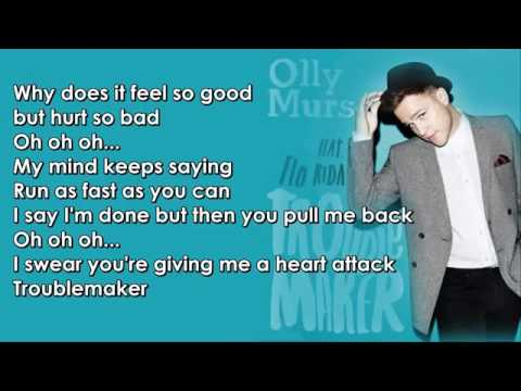 Olly Murs feat  Flo Rida   Troublemaker Lyrics   YouTube