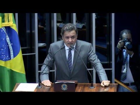 Aécio Neves - Pronunciamento em Brasília Brasília - 16/03/2016