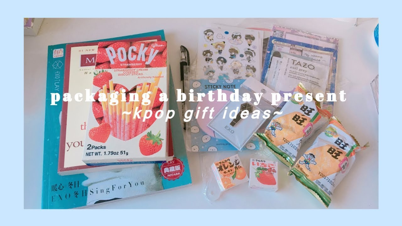 packaging a birthday present | kpop gift ideas - YouTube