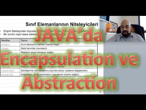 Java'da Encapsulation ve Soyutlama (Abstraction) Java Eğitim 7
