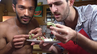 Zucchini Sushi Rolls Recipe - 3 Delicious Stuffed Courgette - Sexy Funny Kitchen Ep 15