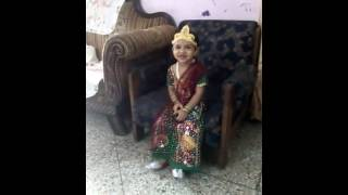 Stuti radha fancy dress 21-8-15