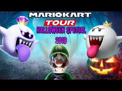 King Boo Takes Over!! Mario Kart Tour Gameplay#1: Halloween Special -Ghostly Tricks & Treats!!