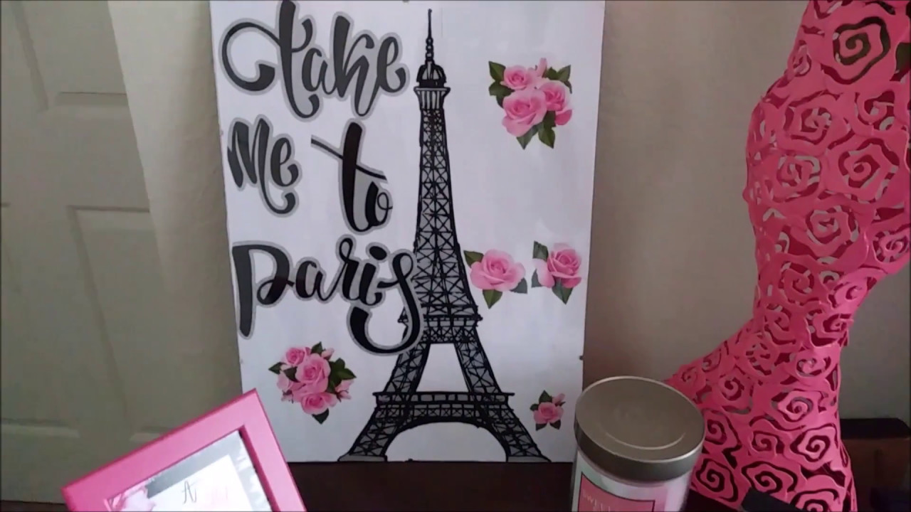 Diy Paris In A Frame Eiffel Tower Dollar Tree Project