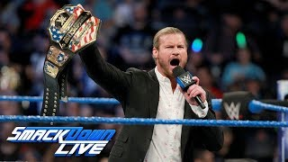 Dolph Ziggler celebrates his United States Title victory  SmackDown LIVE, Dec  19, 2017