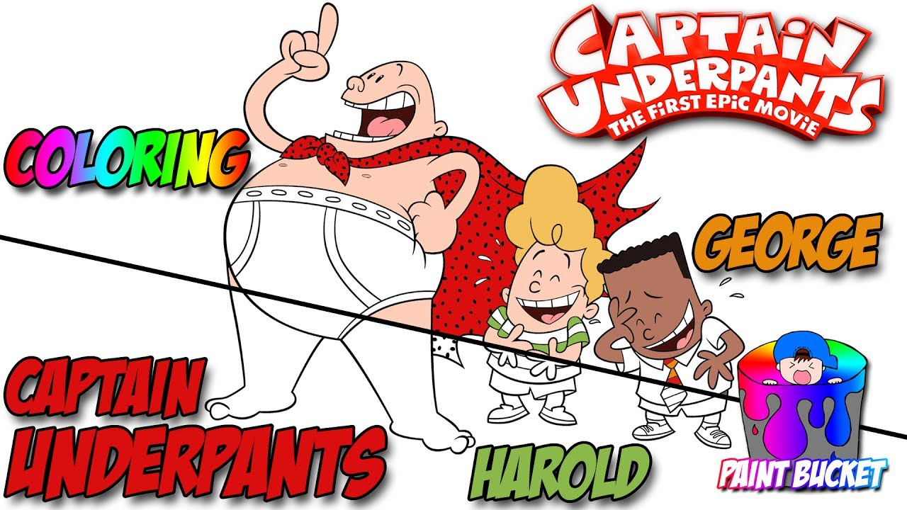 Captain Underpants Epic Movie Coloring Pages Superhero Cartoons