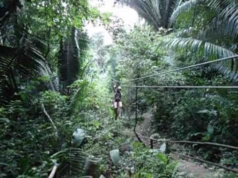 Zip lining in Belize