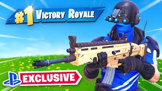 *NEW* Exclusive PS4 Fortnite Skin! (Gameplay)