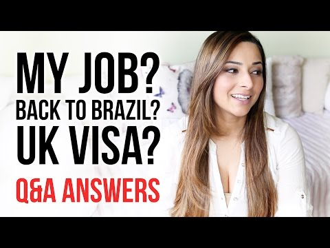 GOING BACK TO BRAZIL? WHAT IS MY JOB? GETTING A UK VISA? MY HUSBAND? Q&A Answers | Ysis Lorenna