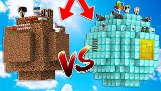 PLANETA NOOB VS PLANETA PRO! 🌍 MINECRAFT (Batalla con mods de armas en Minecraft 1.12.2)