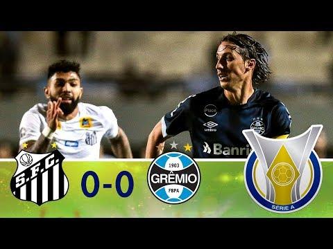 Melhores Momentos - Santos 0 x 0 Grêmio - Campeonato Brasileiro (06/09/2018)