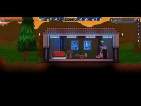 OBTAINING OUR PERSONAL TRICORDER - Starbound: Frackin Universe Mod  (intro/tutorial 2/4)