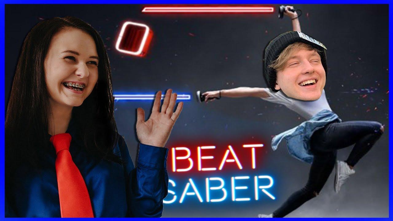 Moonoslav hraje BEAT SABER (Virtuálna realita) :DD