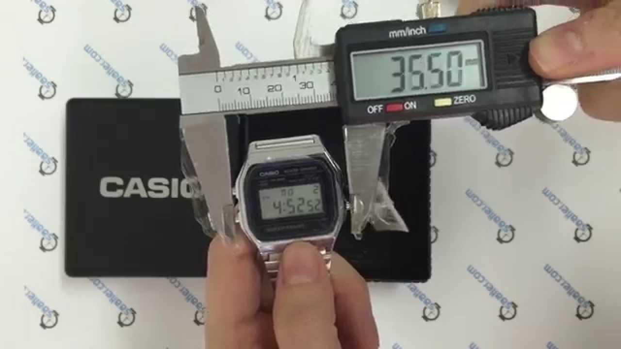 0425a7b93b5 CASIO Retro A158WA-1DF - YouTube