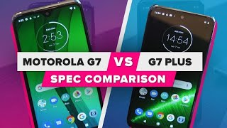 Motorola G7 vs. G7 Plus: Spec comparison