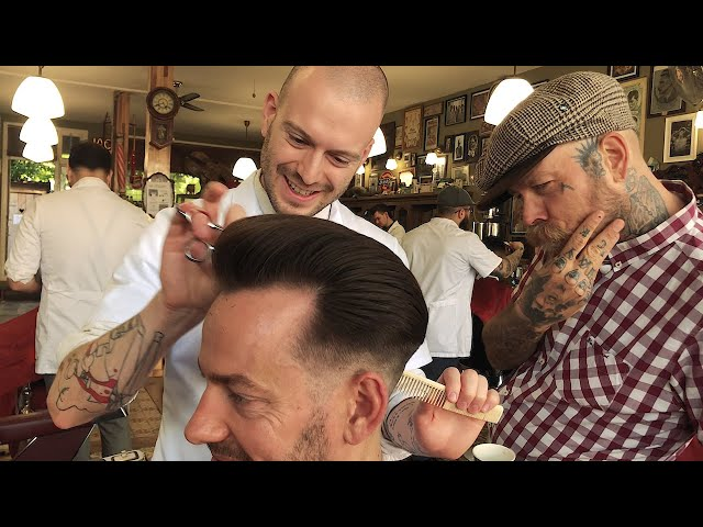 GREASER CLASSIC: Razor Faded Pompadour by Milky