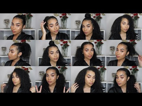 Easy Quick Curly Hairstyles 3b 3c 4a Hair Type Youtube