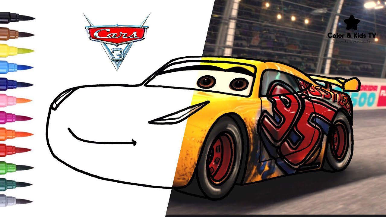 Cars 3 Cruz Ramirez 95 Coloring Pages For Children Color