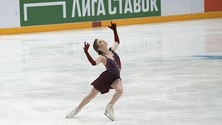 Daria Usacheva 1TV Trophy 2021 SP Дарья Усачева Кубок Первого 2021 КП 06 02 2021