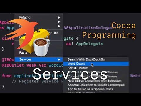 Cocoa Programming L77 - Services