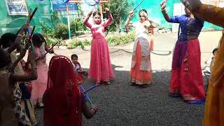 Innocent Holy kids play school      students are celebrating Garbe dance