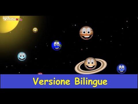 Canzone dei pianeti - Planeten Lied - Canzone per bambini - Yleekids Italiano