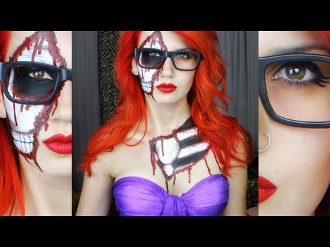 Zombie Hipster Ariel - High Speed Halloween Makeup | Get Ready ...