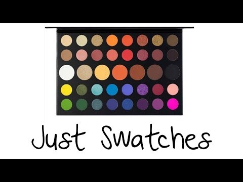 Just Swatches - Morphe x James Charles - Unleash Your Inner Artist