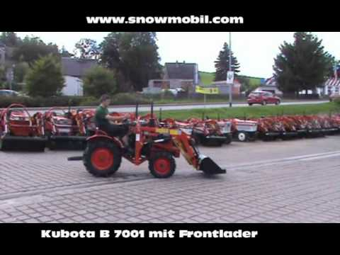 kleintraktor allrad kubota b7001 mit frontlader youtube. Black Bedroom Furniture Sets. Home Design Ideas