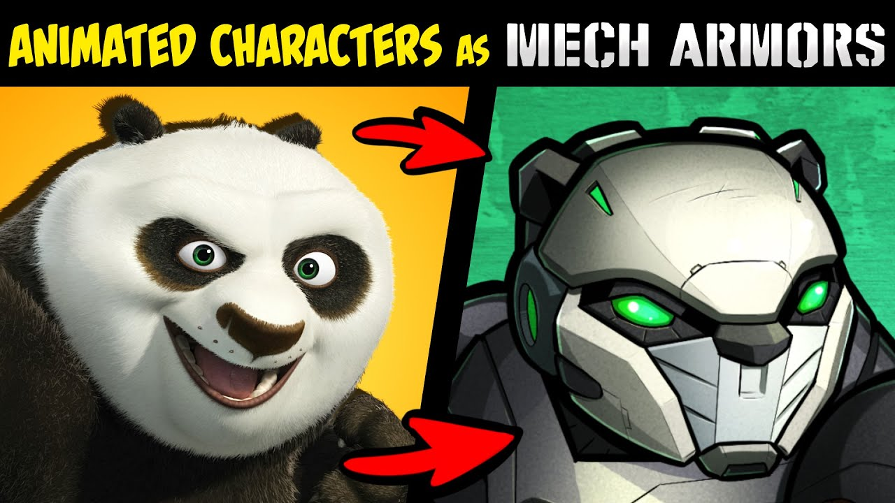 What if FAMOUS ANIMATED CHARACTERS Were MECH ARMORS?! P2 (Stories & Speedpaint)