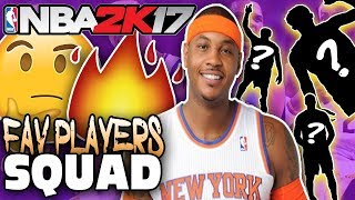 Top 10 favorite players of all-time! nba 2k17 squad builder