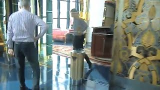 Down the elevator The Burj Al Arab Hotel DUBAI 7 stars Luxury