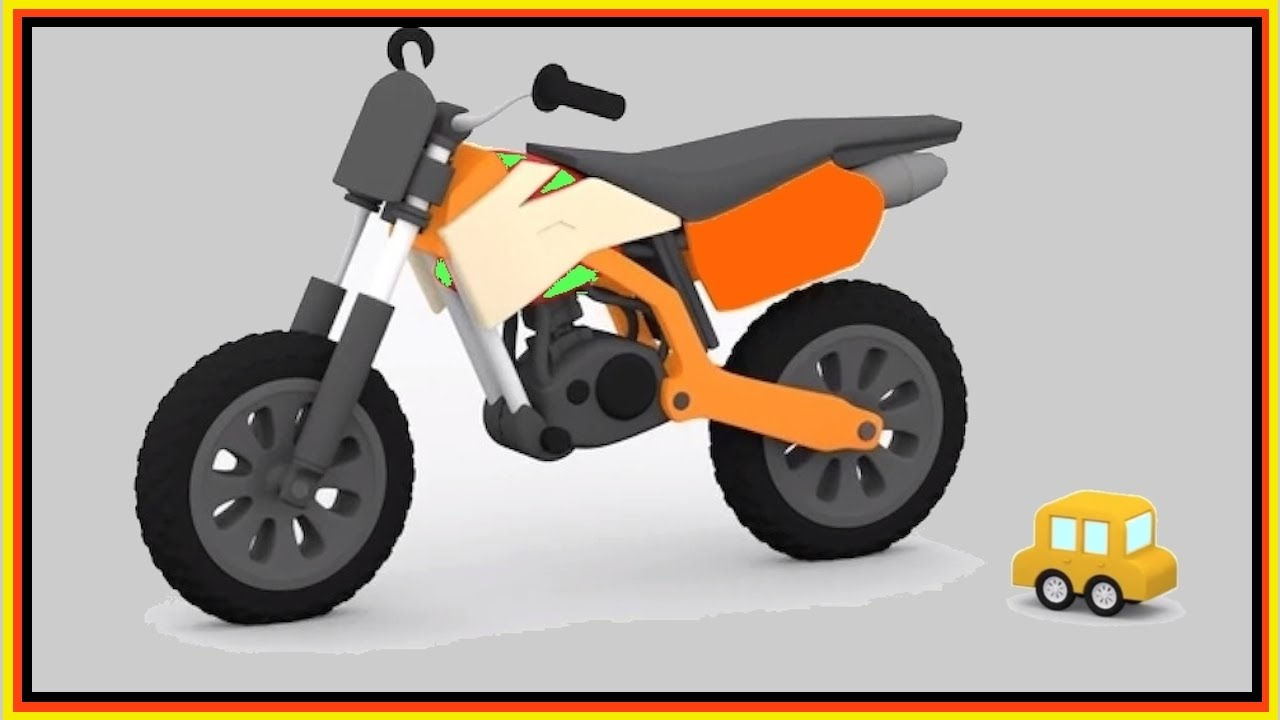 Cartoon Cars Construction - JUMPING MOTORCYCLE Race! - videos for ...